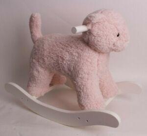 New *sample* Pottery Barn Kids Sherpa Kitty Plush rocker, rocking chair, pink