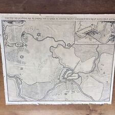 Vintage Map Plan how allies blocked City DENDERMONDE Belgium World War 1 WWI