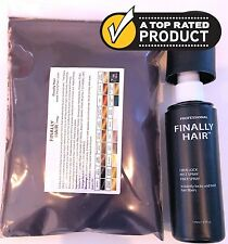 Keratin Hair Building Fibers 100g Refill+Spray Hair Loss Concealer Root touch up