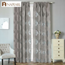 NAPEARL 1 Panel Semi-blackout Jacquard Curtains for Living Room Window Screening