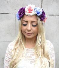 Lilas Mauve Rose Blush Fleur Rose Bandeau Guirlande De Fleurs Cheveux Couronne