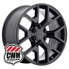 "22 inch OE Performance 169GB GMC Sierra Wheels Gloss Black 22x9"" Rims 6x139.7"