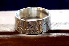 """1964 KENNEDY COIN RING PERFECT SIZE 11  """"UNITED STATES OF AMERICA"""" Handcrafted!"""