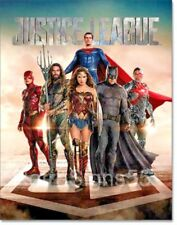 Justice League Movie Poster Metal Sign DC Comics Wonder Women Batman Aquaman
