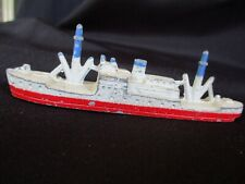 1930s Vintage Tootsietoy Diecast Us Navy Frigate Toy No. 129 with Wheels