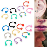5 / 40 Pcs Wholesale Surgical Steel Body Jewelry Nose Lip Stud Piercing Earrings
