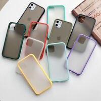 For iPhone 12 Pro Max Mini 11 Pro XS XR 8 7 SE Shockproof Matte Clear Case Cover