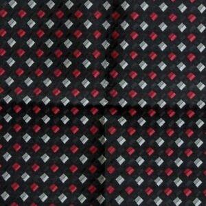 Black Silver Fuchsia Ascot Cravat Pocket Square Combo Silk Blend