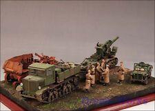 Award Winner Built 1/35 Diorama +Jeep/Voroshilovets/leFH18/M1931 203mm/Figure
