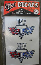 NOS Vintage Chevy 327 Logo #621 Official Decals by Wallfrin Permanent