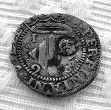 RARA Y BONITA MONEDA DE 1 DOBLE SUELDO DE PLATA-FELIPE II-PERPIGNAN 1598