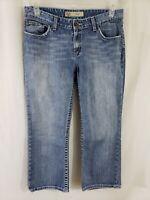 Buckle BKE Kate Stretch Womens Denim Blue Jeans Size 31 x 25 Capri Light Wsh Mid