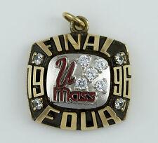 1996 UMASS UNIVERISTY MASSACHUSETS FINAL 4 CHAMPIONSHIP RING top PENDANT 10K