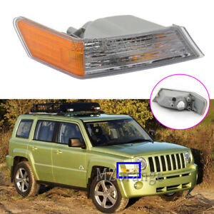 Right Side Front Parking Turn Signals Corner Light Lamp For Jeep Patriot 2007-19
