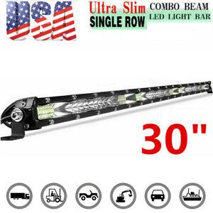 "30inch 234W LED Light Bar Driving Offroad Flood Spot Combo Beam Slim PK 32"" 42"""