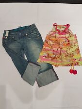 girls miss sixty denim shorts and multi coloured summer top age 14 yrs