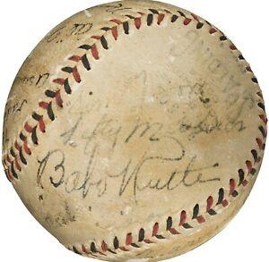 1933 Babe Ruth & Lou Gehrig Multi-Signed Baseball PSA COA