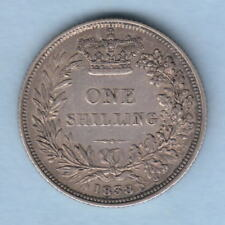 Great Britain.  1838 Shilling.. Part Lustre - gVF/aEF