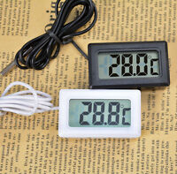 Digital LCD Freezer Thermometer Thermograph Probe for Refrigerator 110℃