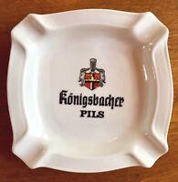 Vintage Konigsbacher Pils German Ceramic ASHTRAY Rastal