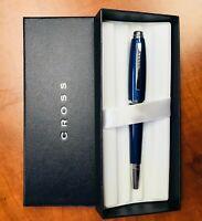 Cross Dubai Blue Lacquer/Chrome Trim Medium Nib Fountain Pen