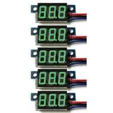 5PCS Mini DC 0-100V 3-Wire Voltmeter Green LED Display Meter Digital Panel Meter