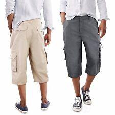Bermuda Uomo Shorts Pinocchietto Pantaloni con Tasconi Laterali GIROGAMA 3985B