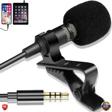 Clip on Professional Lavalier Microphone Lapel Omnidirectional For Smartphone