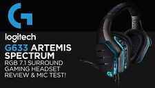 Logitech G633 Artemis Spectrum RGB 7.1 Surround Gaming Headset Microphone