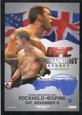 2015 TOPPS UFC POSTER CARD INSERT FIGHT NIGHT 55 SYDNEY MICHAEL BISPING ROCKHOLD