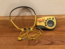 Vintage Sony SRF-M78 Yellow Sports Walkman AM FM Radio Tested W/ OEM Headphones