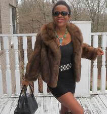 Designer Barguzin Silver tip Russian sable Fur Coat jacket bolero S 0-4 $39,000+