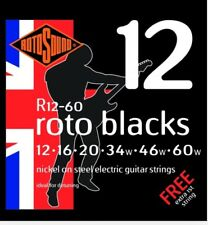 Rotosound Blacks 12-60 Guitar Strings