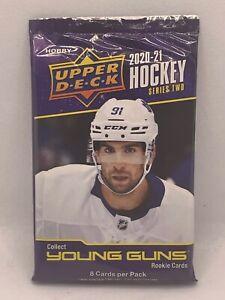 2020-21 UPPER DECK Series 2 NHL Hockey - 1 x sealed HOBBY PACK - 8 Cards
