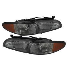 Pontiac 97-03 Grand Prix Smoke Lens Replacement Headlights + Corner Signal Set