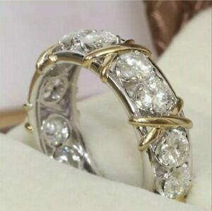 Eternity Ring With Stones Size 8