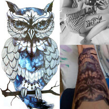 Frauen Körper Kunst Bunte Zeichnung Eule Aufkleber Temporäre Tattoo Aufkleber