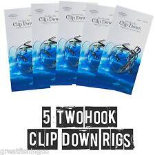 2 Hook Clip Down Rigs X 5 Sea Fishing Rigs