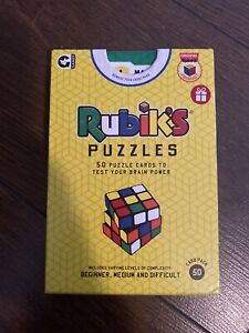 RUBIKS PUZZLES 50 Challenge Card Games to Test Your Brain 14+