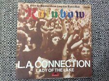 """7"""" Vinyl Rainbow - L.A. Connection/Lady of The Lake Red Vinyl"""