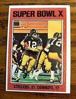 1976 Topps NFL # 333 Super Bowl X/Terry Bradshaw