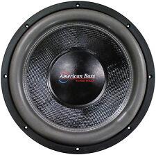 "American Bass HD12D2 12"" Subwoofer Hd Series Dual 2ohm Carbon Fiber Cone"