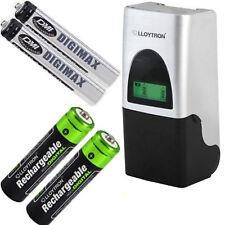 Ni-Mh Battery charger & 4 free batteries 2  AA Lloytron 2700mAh & 2 AAA 1100mAh