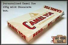 Personalised 100g Camel Toe milk Chocolate box, Great Gift Idea.
