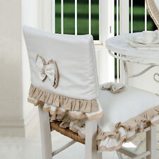 Coprischienale Coprisedia Shabby Chic Doppio Fiocco Collection Colore Bianco Bei