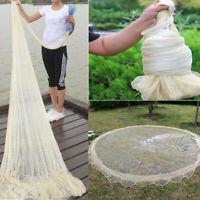10FT 3X4M Fishing Net Nylon Monofilament Mesh Easy Hand Throw Cast W/