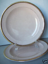 "Set Of 2 Vintage Peach-Blo By Limoges Sebring Ohio Etched Gold 7"" Salad  Plates"