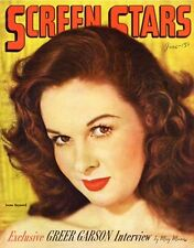 SUSAN HAYWARD great 8x10 magazine cover SCREEN STARS from 1946 -- (z015)