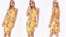 Polyester Asymmetric Floral Dresses for Women
