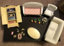 Barbie 1996 Folding Pretty Living Room Furniture Accessories